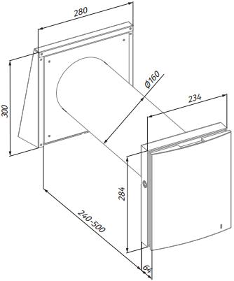 Проветриватель Blauberg Vento Expert - Размеры