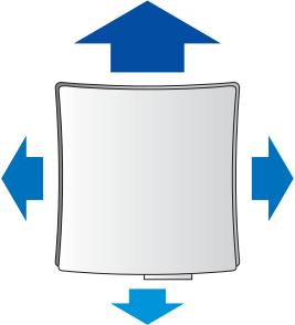 Стеновой проветриватель Вентс ПС 102 - Интенсивность воздушного потока по направлениям