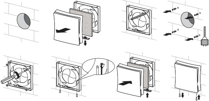 Стеновой проветриватель Вентс ПС 102 - Монтаж