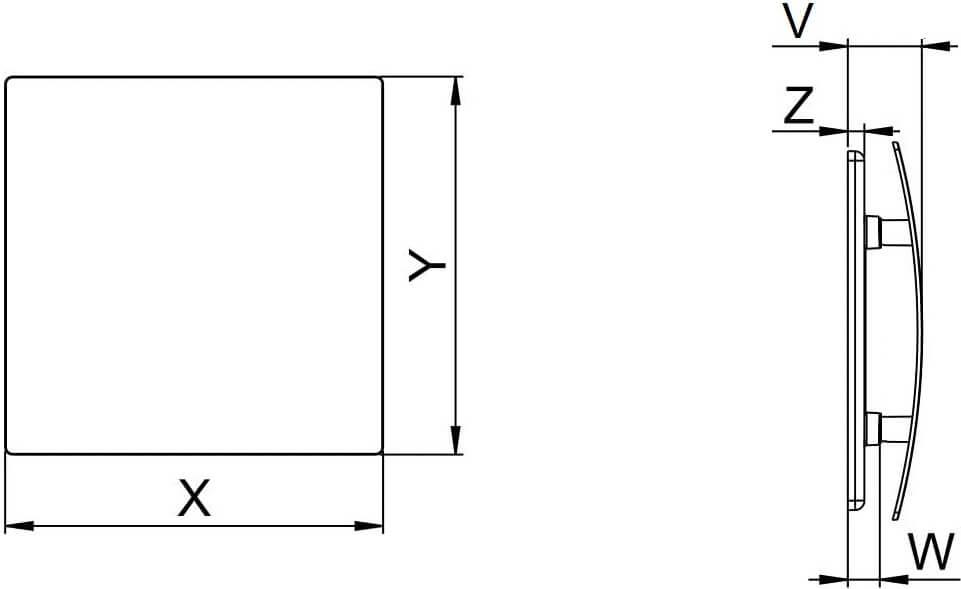 Панель под покраску Awenta Escudo Do Malowania PEDM - Размеры