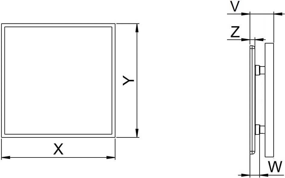 Панель под плитку Awenta Inside - Размеры