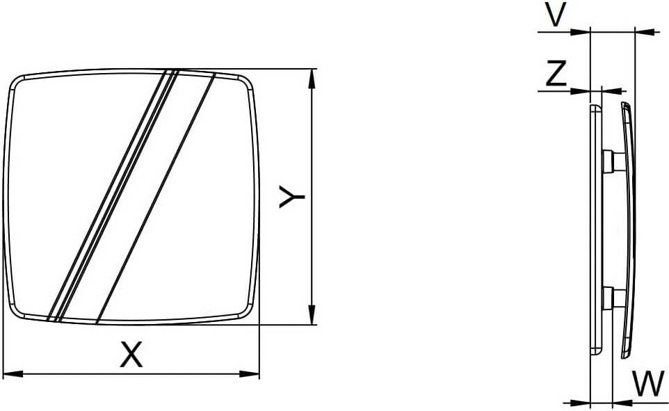Панель декоративная пластиковая Awenta Linea - Размеры