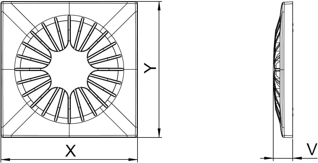 Панель декоративная пластиковая Awenta Omega - Размеры