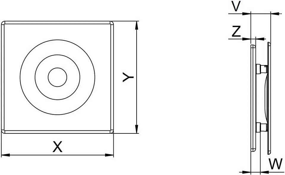 Панель декоративная пластиковая Awenta Orion - Размеры