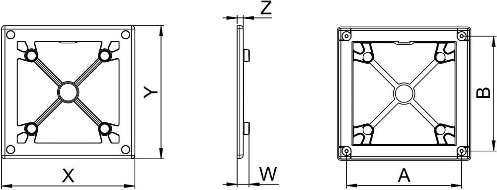Рамка для крепления панелек Awenta Ramka RW - Размеры