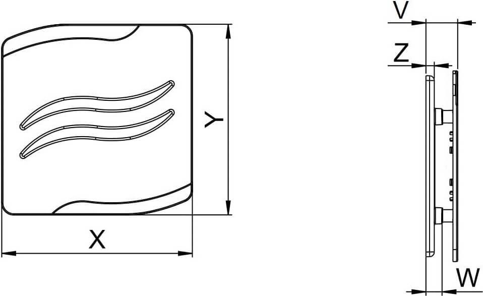 Панель декоративная пластиковая Awenta S-Line - Размеры