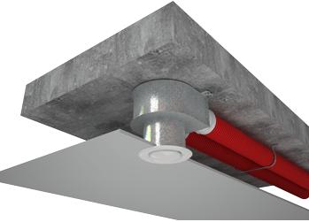 Пленум потолочный металлический Vents FlexiVent 0811125/75x3 / DN75 - Вариант монтажа 1