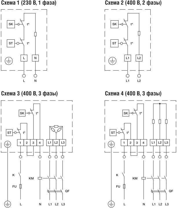 Электрический нагреватель для круглых каналов Shuft EHC - Схема подключения